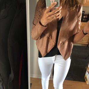 BCBG Camel Leather Jacket
